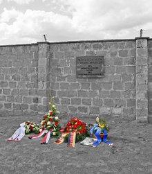 Kranzniederlegung in der Gedenkstätte Sachsenhausen
