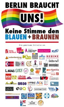Logo zur Kampagne Berlin bruacht uns
