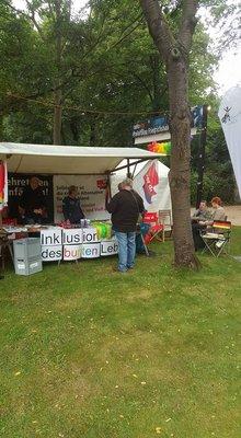 Infostand auf dem Parkfest Friedrichshain 2017