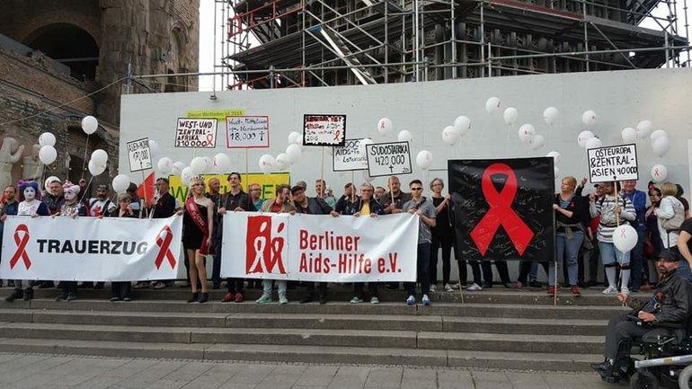 Trauerzug der Berliner Aids-Hilfe