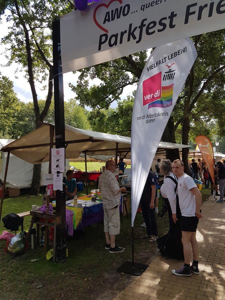 LesBiSchwules Parkfest Friedrichshain 2019
